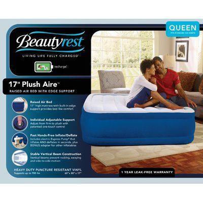 Beautyrest Plush Aire Raised Air Mattress With Electric Pump Simmons Beautyrest Air Mattress Mattress