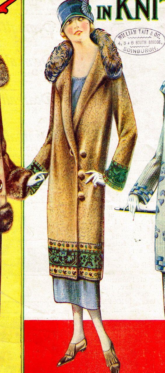 INSTANT DOWNLOAD-Vintage 1920s Downton Abbey flapper coat ...