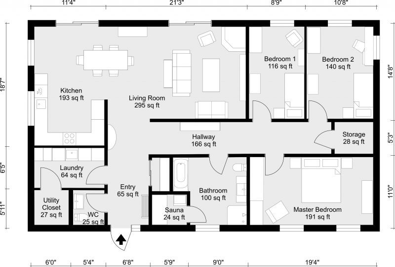 Create 2d Floor Plans Easily With Roomsketcher Draw Yourself Or Order Perfect For Real Estate Home D Home Plan Drawing Floor Plan Design Drawing House Plans