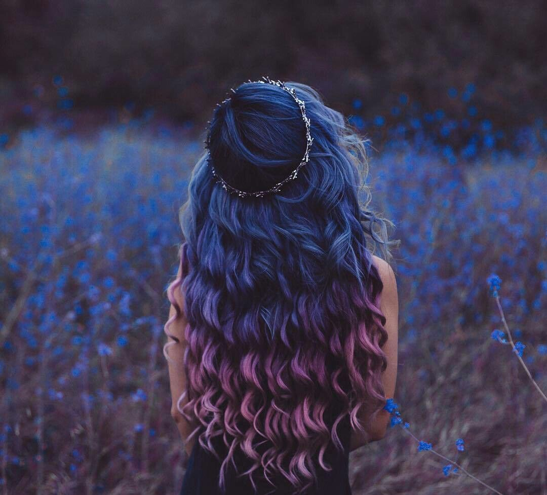 Blue to purple to pink ombre fav pinterest ombre hair