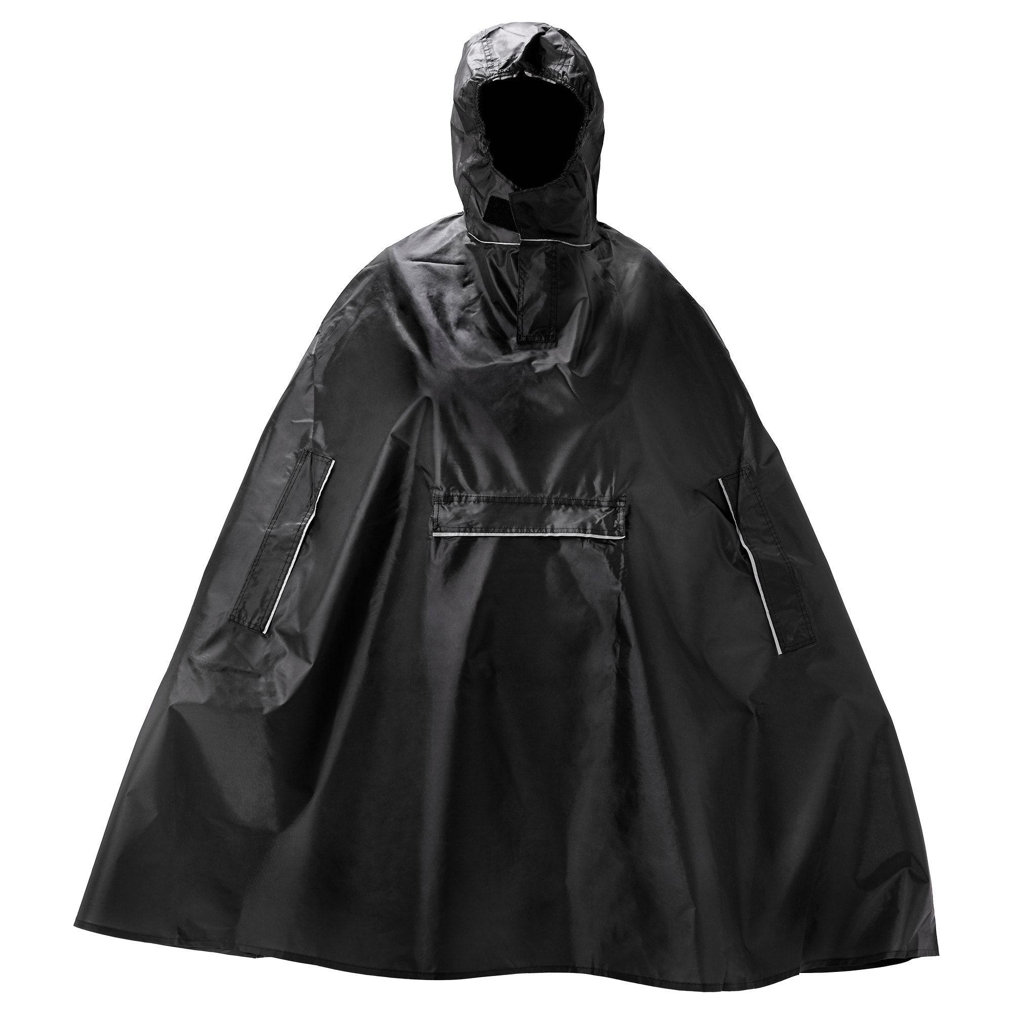 Imperméable raincoat manteau de pluie impermeable PVC-L-XL-XXL Noir