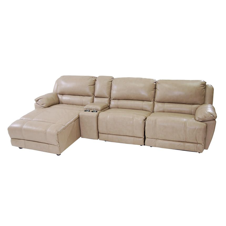 Theodore stone power motion leather sofa w left chaise for Bartlett caramel left corner chaise sectional