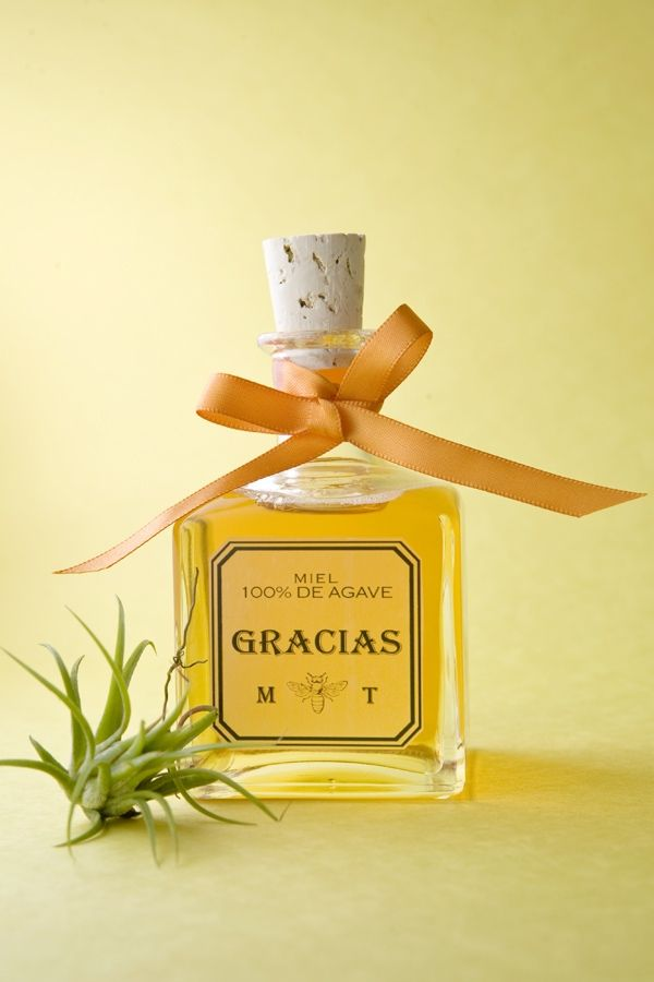 Actually This Is Agave Honey But You Get The Idea Diy Wedding Favors Tequila Bottles