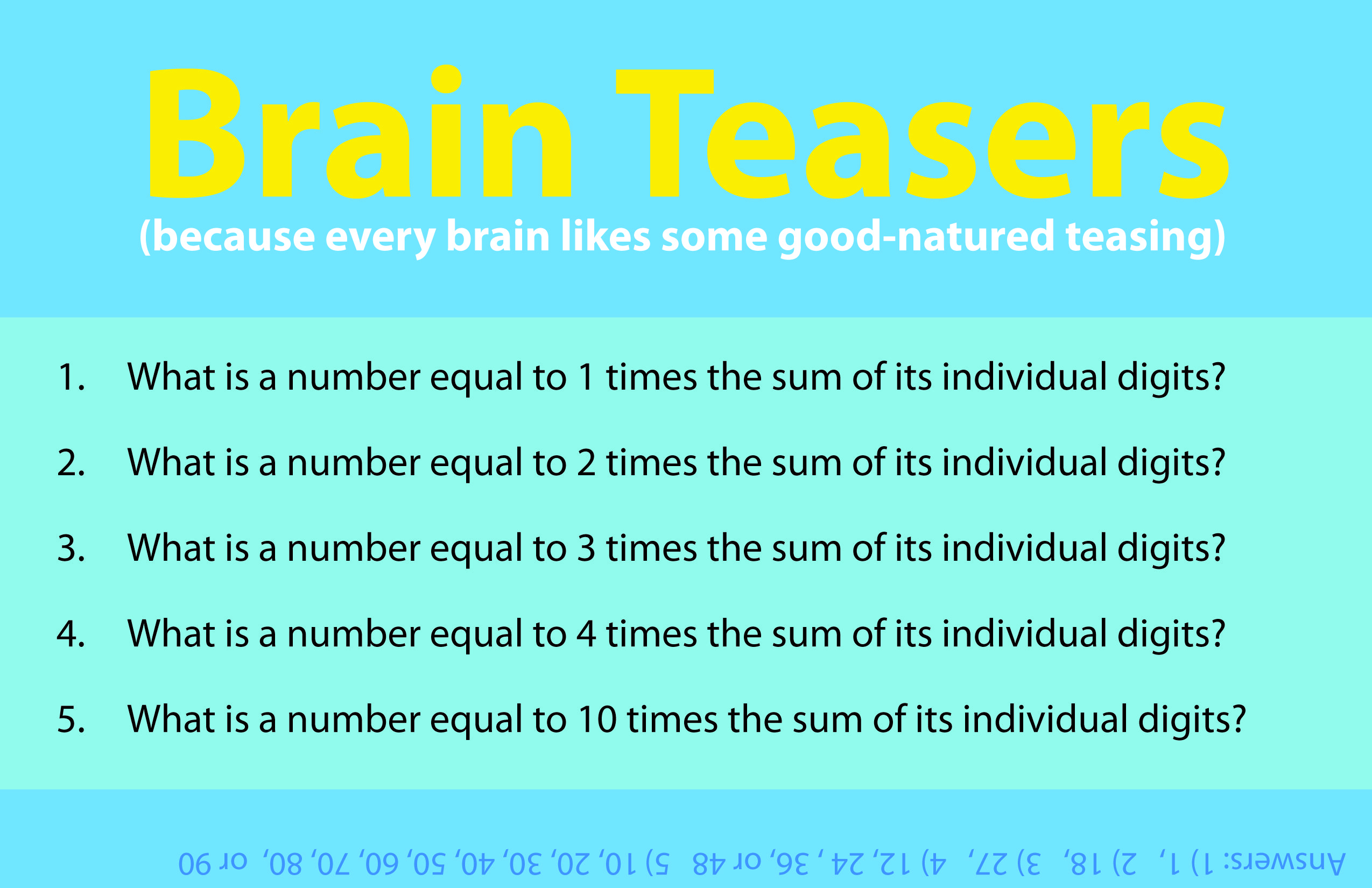 Flex Your Math Muscle With Today S Brain Teaser Some