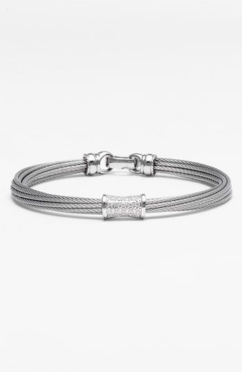 ea090bf1fc0 Charriol 'Mixed Modern' Diamond Station Cable Bracelet available at  #Nordstrom Love it