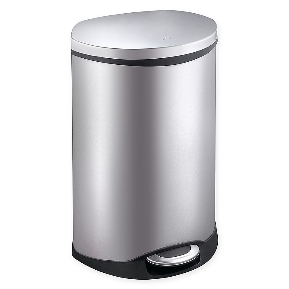 Eko Shell Stainless Steel 50 Liter Step Trash Can Trash Can