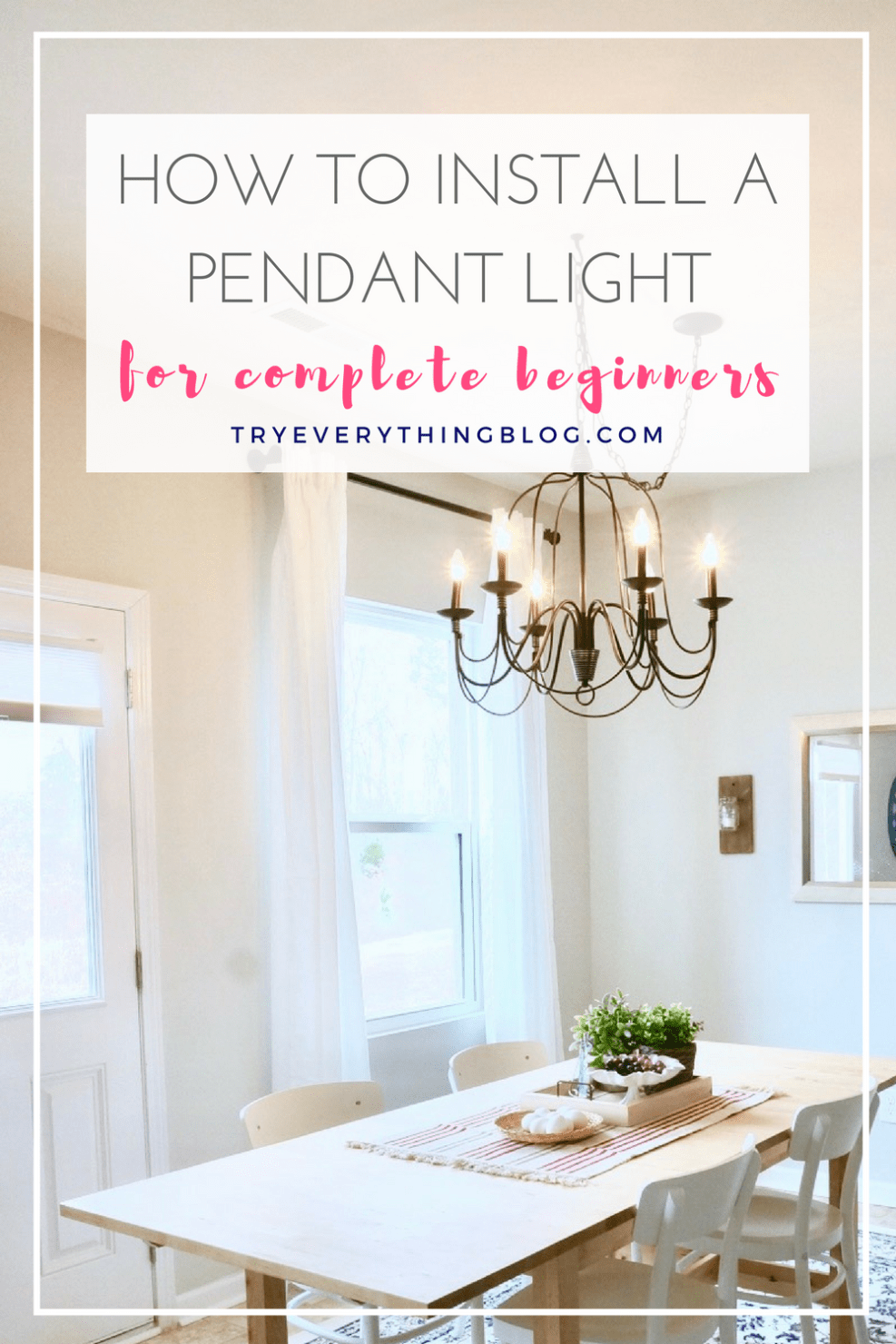 How To Install A Pendant Light Fixture And Swag It Installing