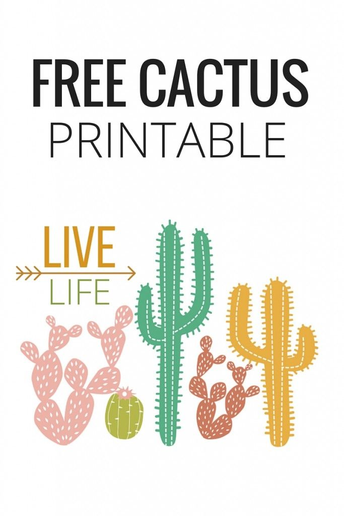 photograph about Cactus Printable named Reside Lifetime- No cost CACTUS PRINTABLE Free of charge Printables Cactus