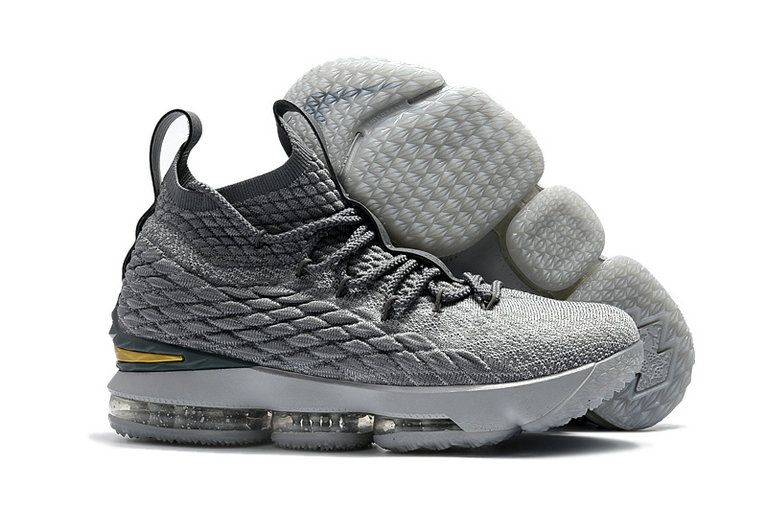 f0bbe83a531 Mens Original Nike LeBron 15 XV EP Basketball Shoes City Edition Grey Gold