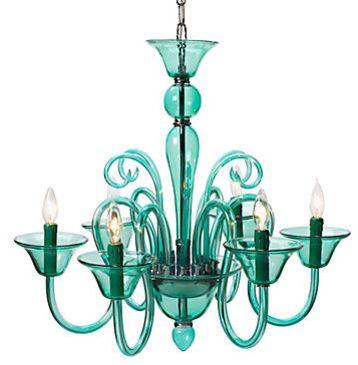Mindy kalings turquoise chandelier from the mindy project mindy kalings turquoise chandelier from the mindy project aloadofball Gallery
