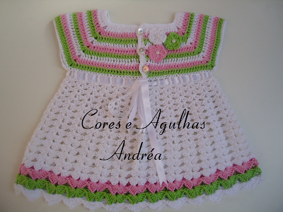 Vestido para Bebe em Croche com Receita - Baby Dress Crochet Free ...