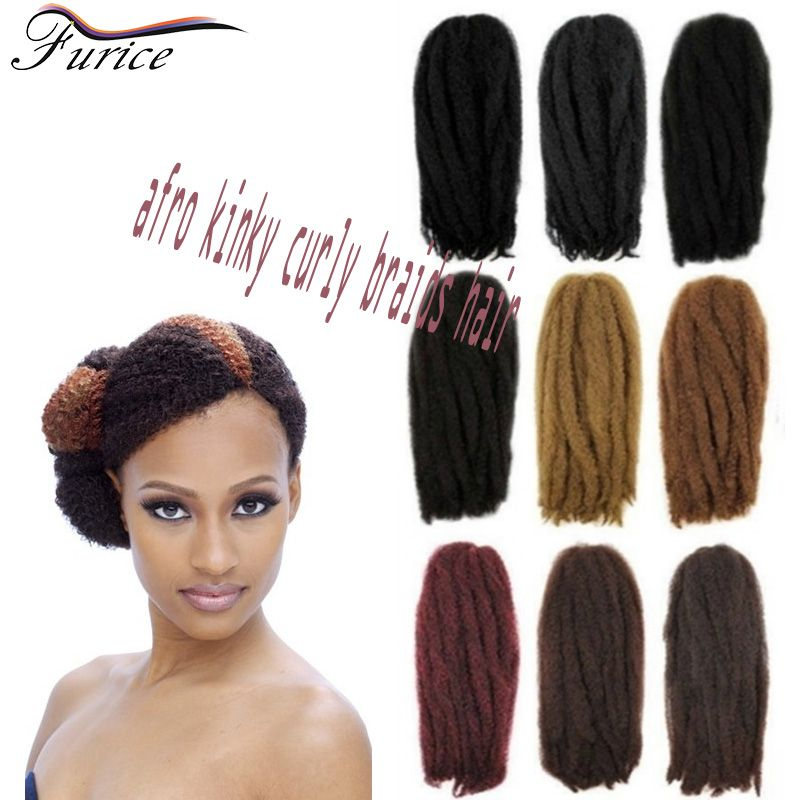 Box Braid Extensions Afro Kinky Curly Hair Crochet Braids Synthetic