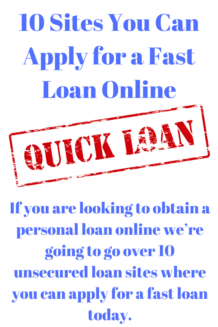 10 Sites You Can Apply For A Fast Loan Online Fast Loans Easy Loans Personal Loans Online