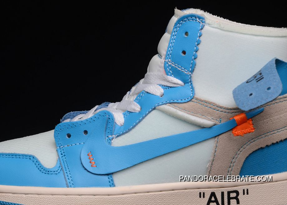 73823ee92e23 Off-White X Air Jordan 1 Retro High Nike AJ1 OW UNC AQ0818-148 Mens Aj1  White Cone-Dark Powder Blue Best