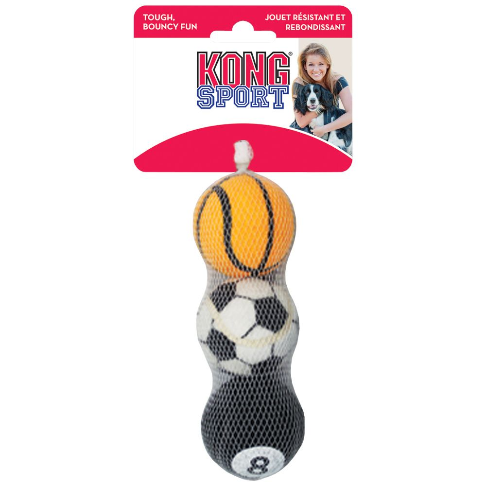 KONG Sports Balls - Small 3-Pack (Assorted): There are five essential small dog toys that no miniature canine can live without! If your little pooch doesn't have the toys on this list then you must order them today