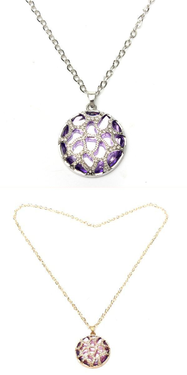 Vintage circular hollow glass crystal pendant sweater chain necklace vintage circular hollow glass crystal pendant sweater chain necklace unusual necklaces pendants necklace pendants aloadofball Image collections