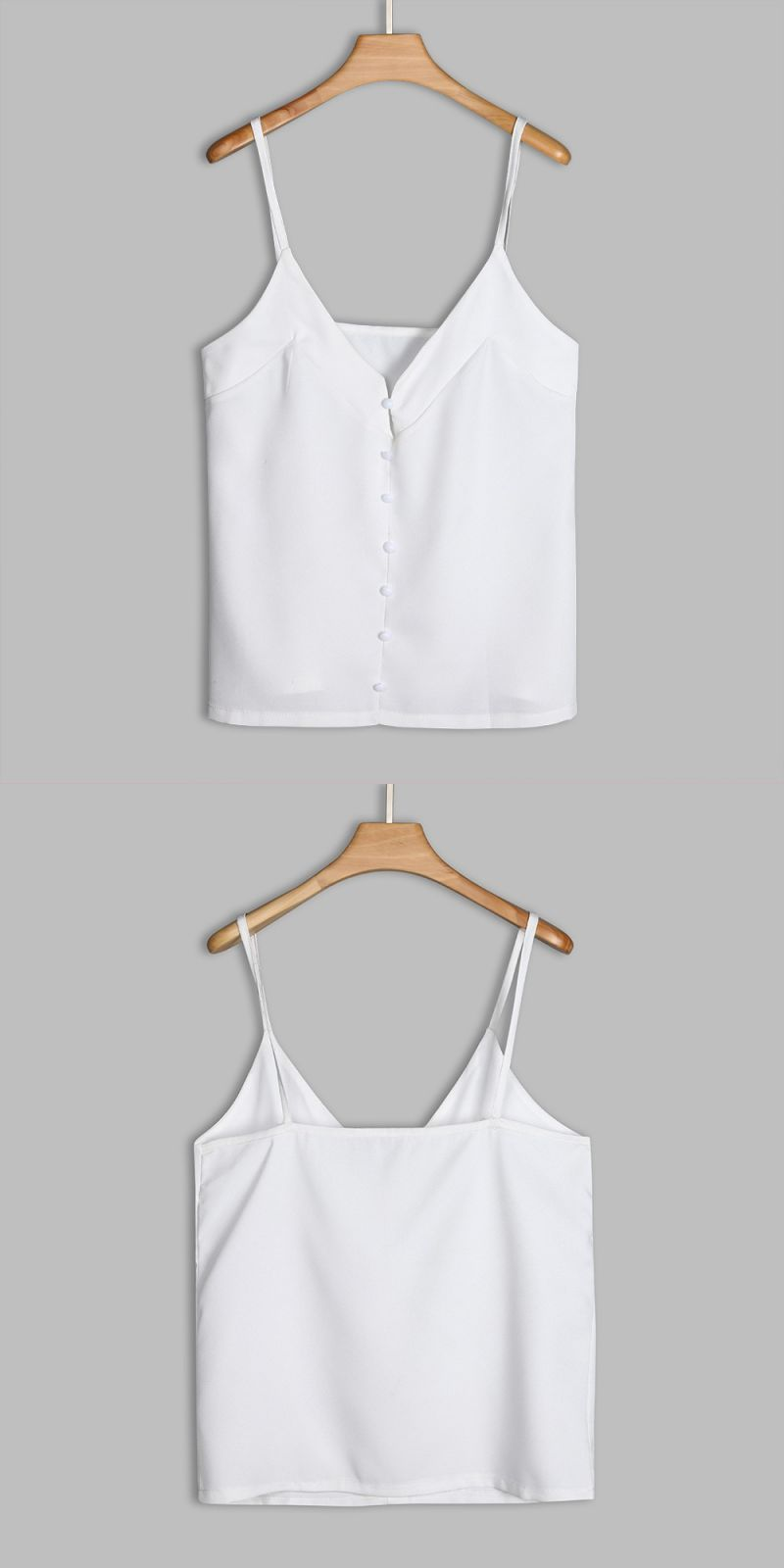 f1aa266ec5d Pearl buttons chiffon tank top for women summer style woman casual white  tops plain v neck