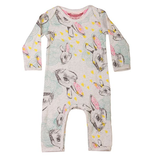 Tiny Style Little Wings By Paper Wings Organic Romper Stormy
