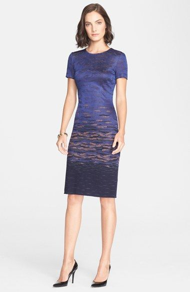 338c0e0f4ce3 St. John Collection Sunset Jacquard Knit Dress available at  Nordstrom