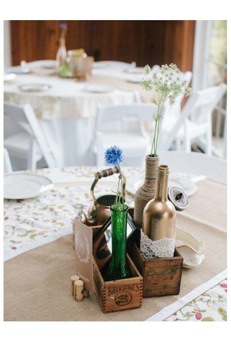 Simple Floral Wedding Centerpieces Brides Wedding Flowers
