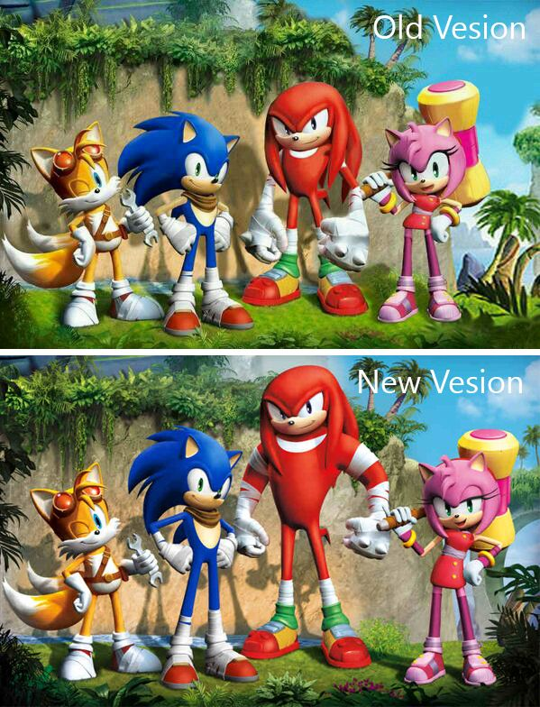 Old Vesion Vs New Vesion Sonic Boom Sonic And Amy Sonic The Hedgehog