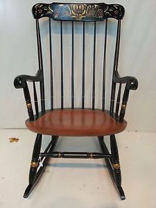 Hitchcock Chairs Co Connecticut Rocker Chair Usedhitchcockdotcom Antique Rocking Chairs Rocker Chairs Rocking Chair