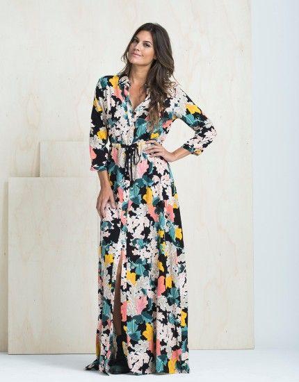 b445f1976e8e Chemise Longo Estampa Liota - zinzane   vestidos em 2019   Roupas ...