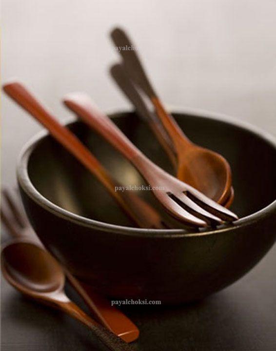 wooden Spoons Bowl & Fork