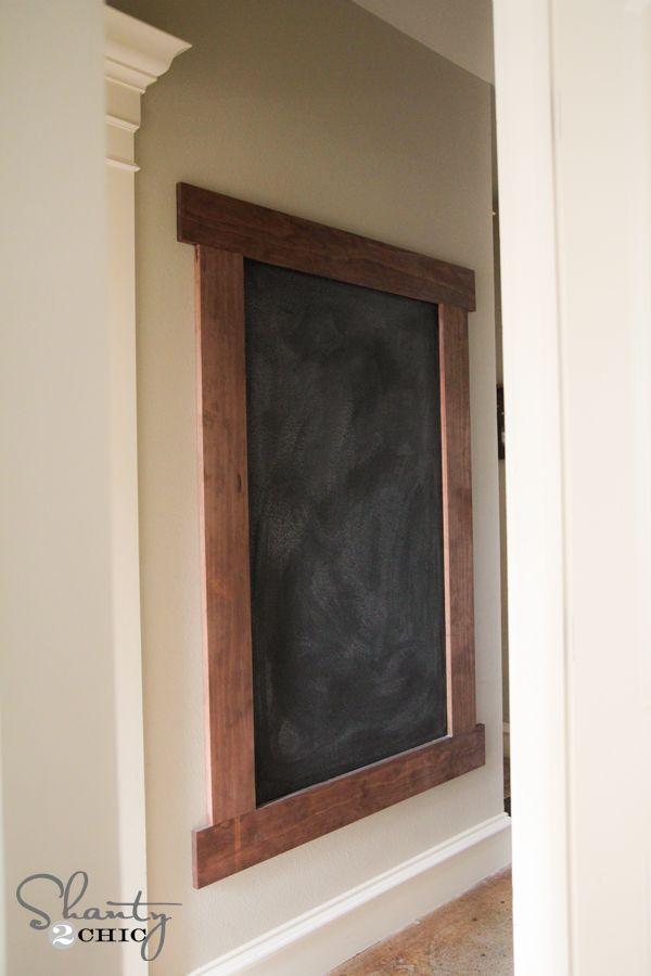 DIY Framed Chalkboard Wall!! | Pinterest | Chalkboard walls ...