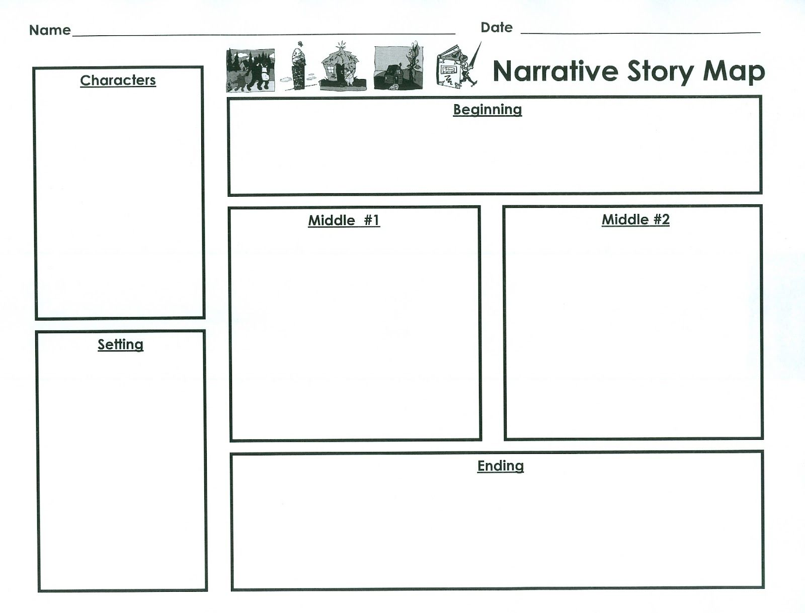 Narrative planner template google search school for Story outline template for kids