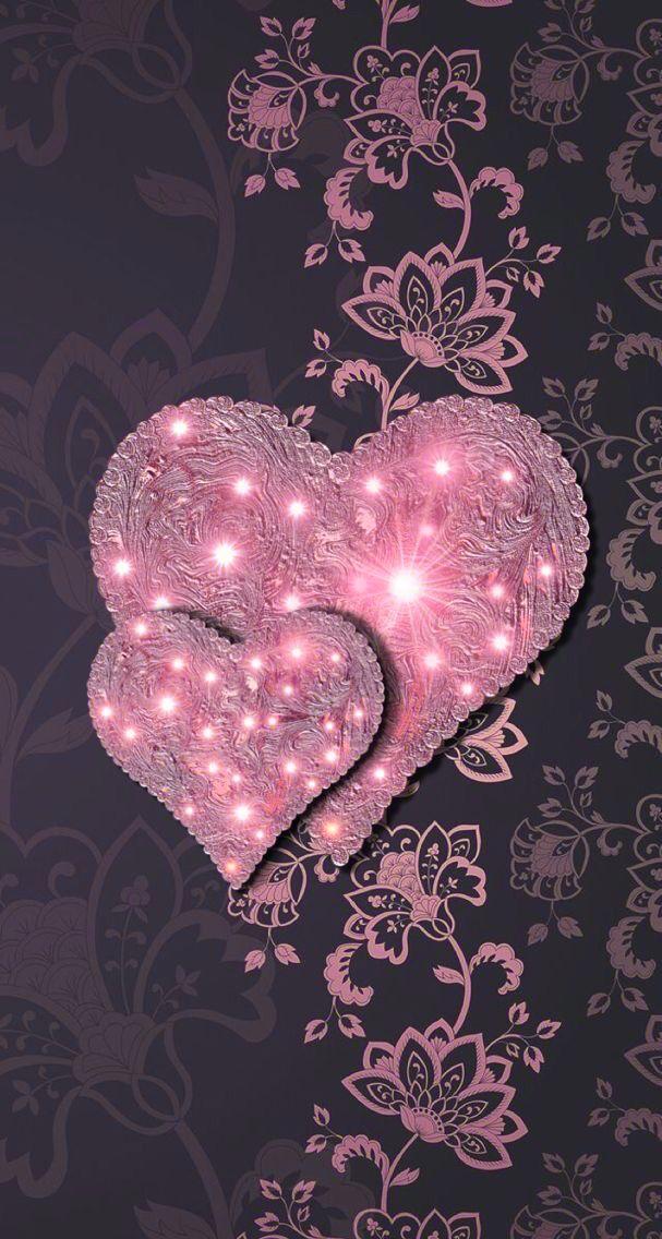 Black & Pink Wallpaper...By Artist Unknown... | Hearts | Pinterest ...
