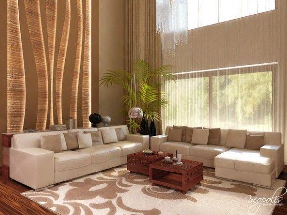 Luminosas y acogedoras salas de estar modernas para la for Decoracion de casas acogedoras