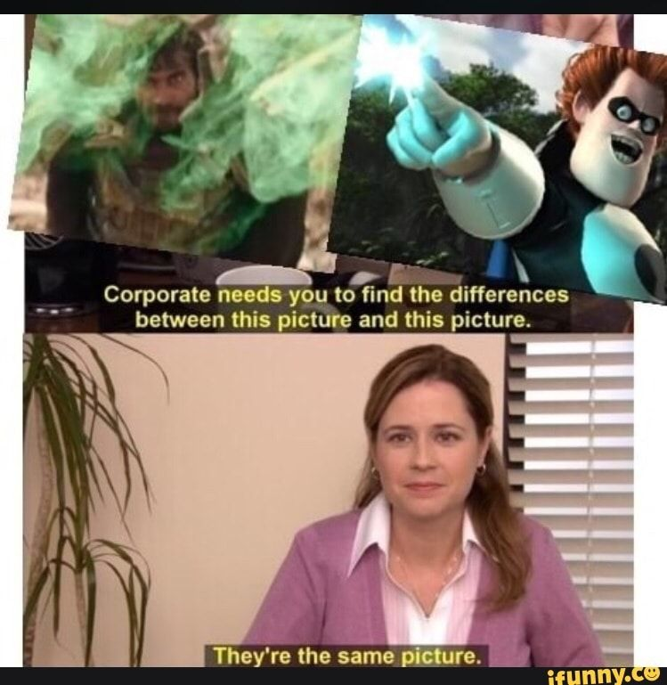 Corporate N 8 You To Find The Differences Between This Picture And This Picture Ifunny Memes Marvel Memes Avengers Funny