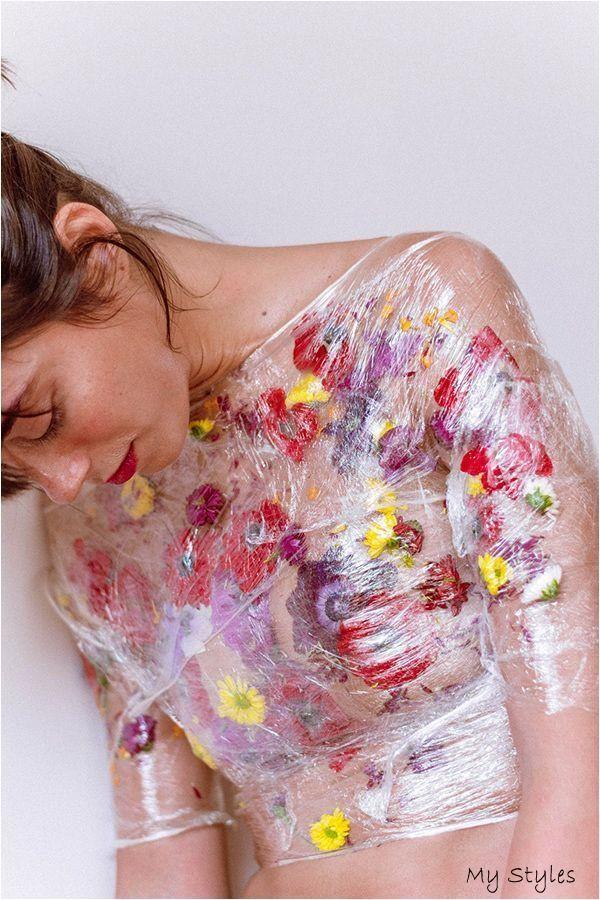 Konzeptionelle Fine Art Fotografie von Alexandra Diona / Blumen / Körper / Wrap / Flo - htt- #Body #Painting
