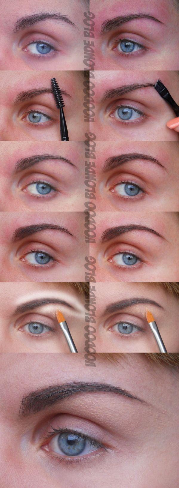 Eyebrow tutorial step-by-step | Beautiful eyebrows ...