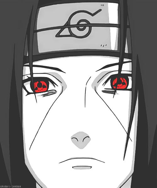 The Monochromatic Effect Of Itachi S Face Has Accented His Red Eyes Itachi Itachi Uchiha Naruto Shippuden Sasuke