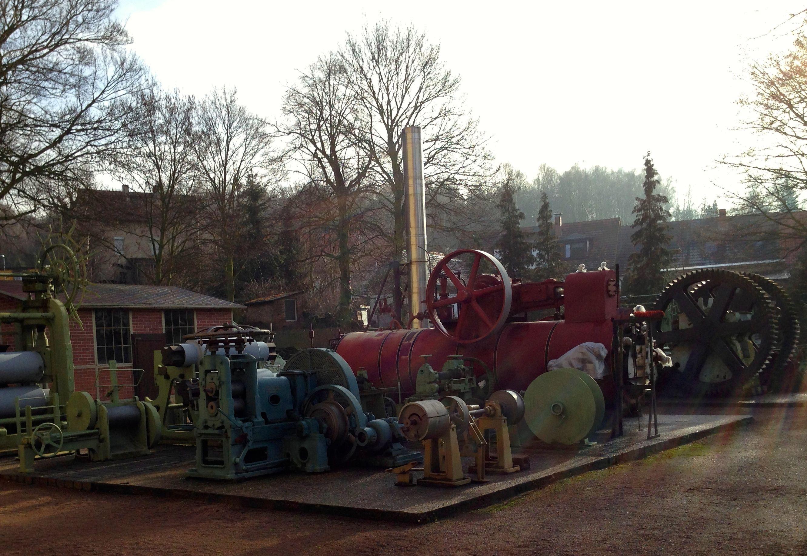 Mansfeld Museum Hettstedt mit der Nachbildung der ersten deutschen Dampfmaschine