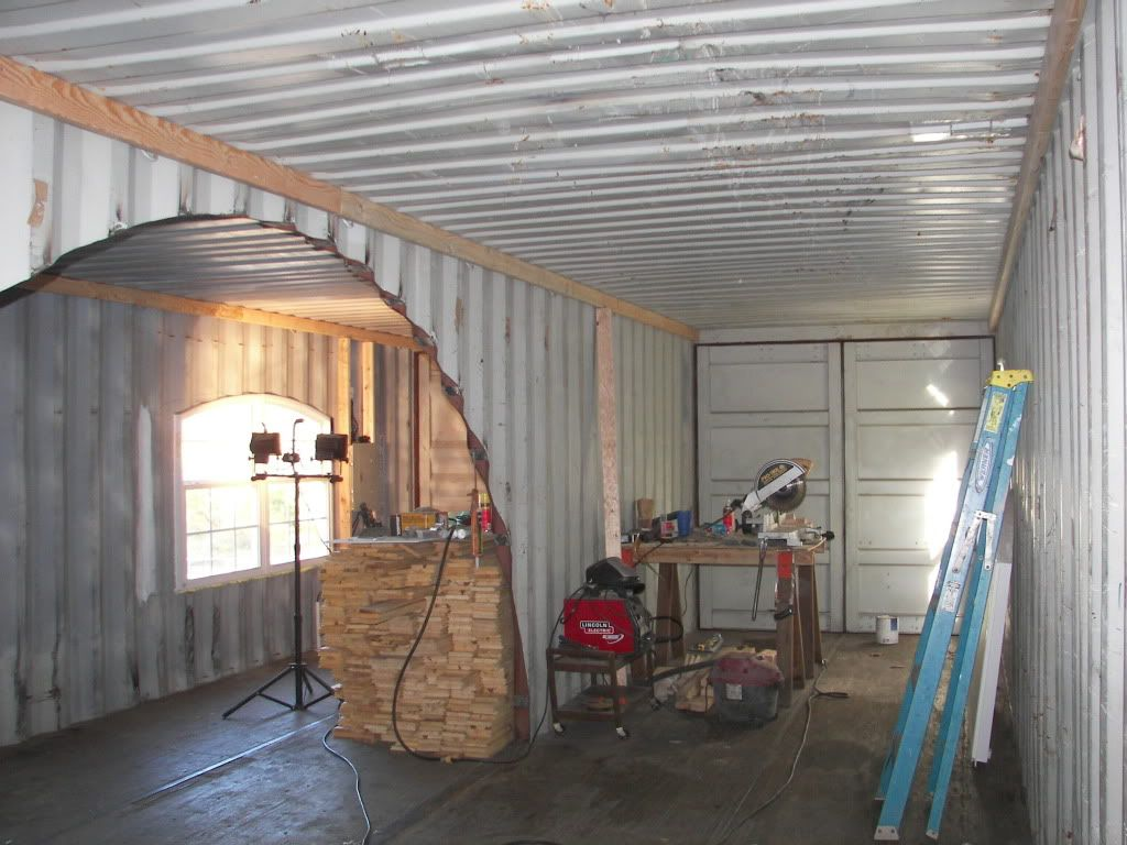 My Shipping Container Cabin Shelter Natural Building Forum At Permies Container House Shipping Container Home Builders Building A Container Home
