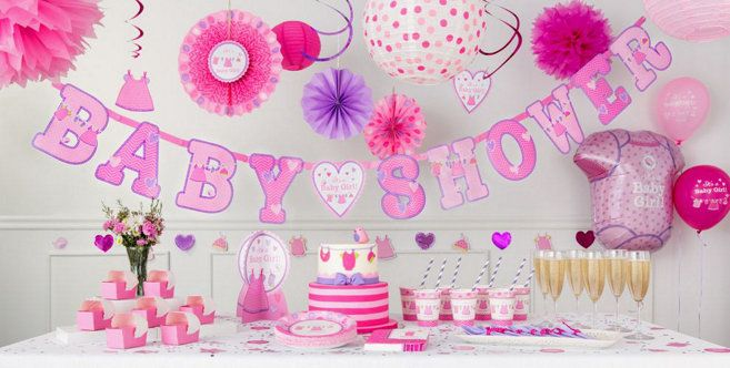 It S A Girl Baby Shower Decorations Party City Halloween Baby Shower Baby Shower Decorations Girl Baby Shower Decorations