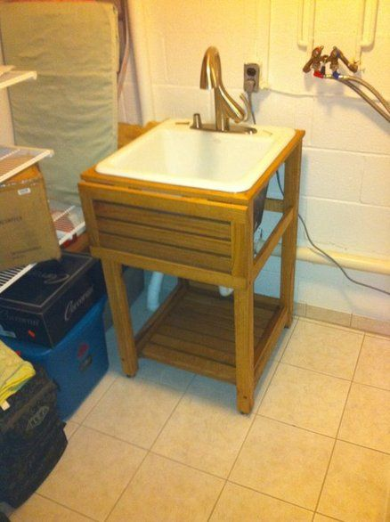 Great Utility Sink Stand Oak Utility Sink Stand Https Plus