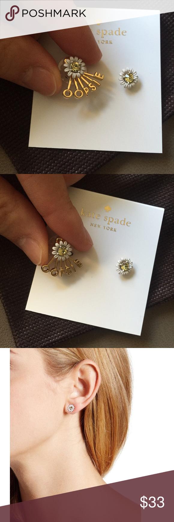 Kate Spade Stud Earrings Never Worn New Daisy And 1 Oopsie Dust