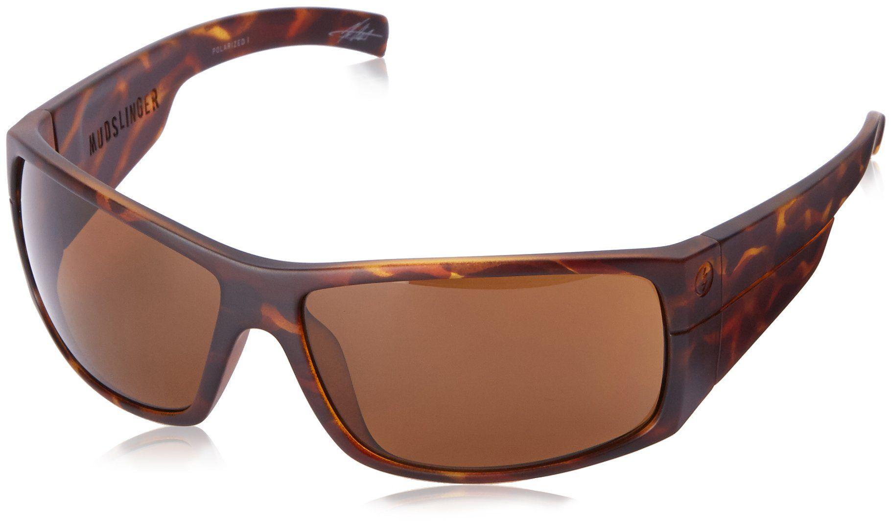 Electric Mudslinger Polarized Wrap Sunglasses, Matte Tort