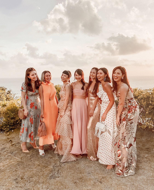 Pin By Melissa Mae On Wedding Tea Length Bridesmaid Dresses Wedding Outfit Dress Code Wedding [ 1389 x 1125 Pixel ]