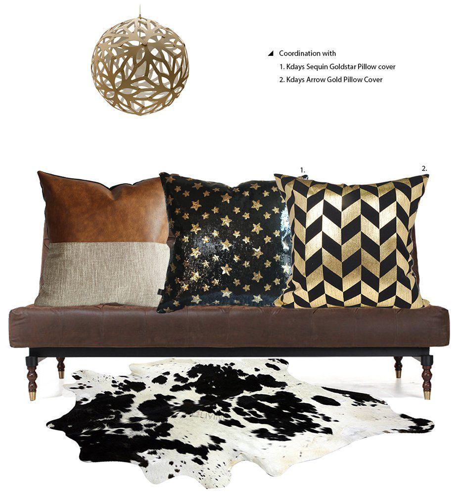Kdays halftan pillow cover designer modern throw pillow cover