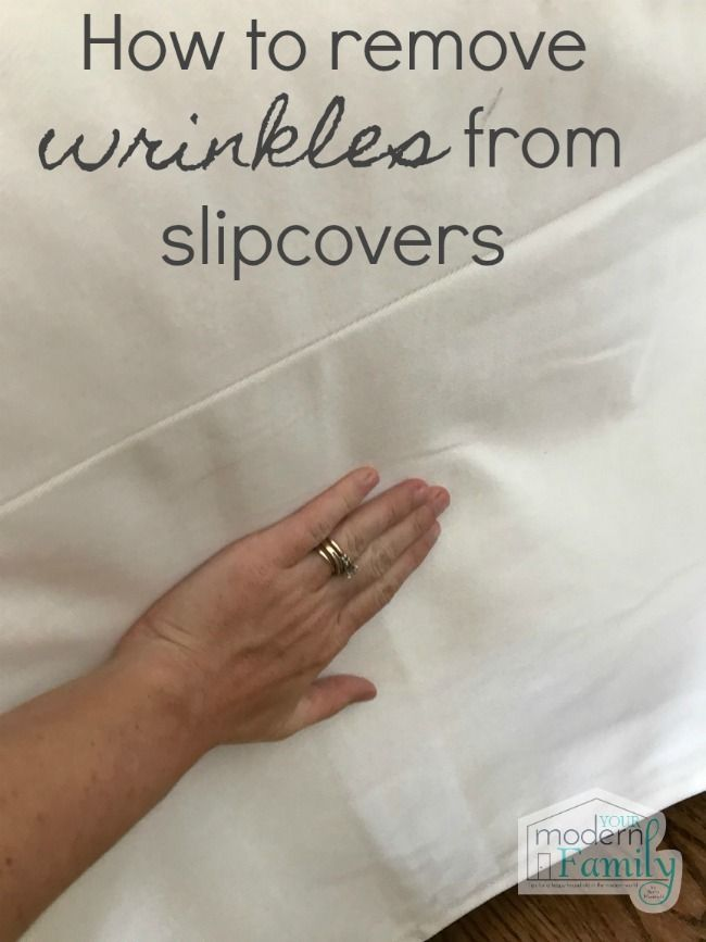How to get wrinkles out of slipcovers | White sofas