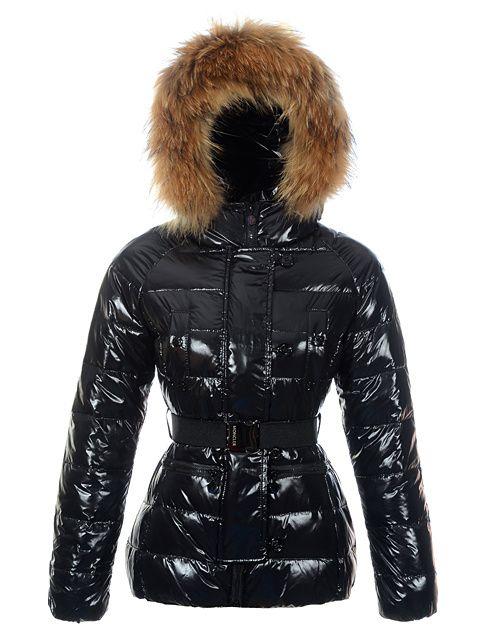 Moncler Gene Design Down Jackets Womens Decorative Belt Black Outlet