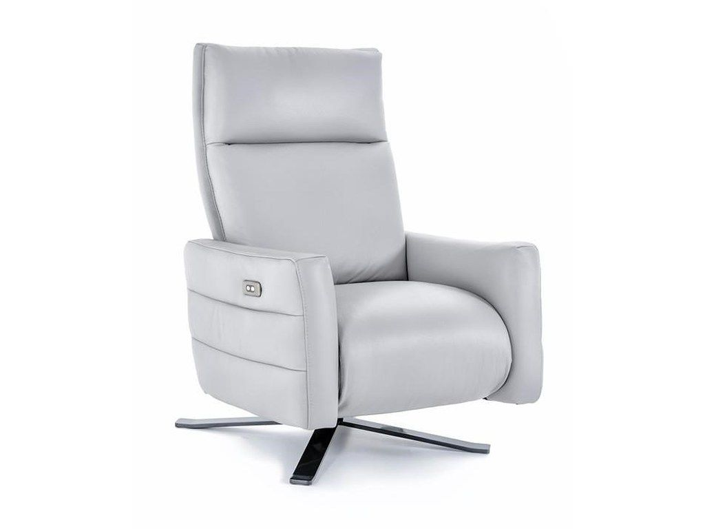 B958 Power High Leg Recliner With Metal Base By Natuzzi Editions
