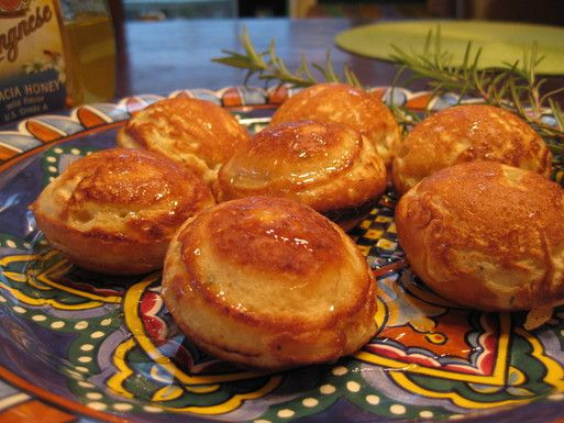 Photo of Ebelskivers with pecorino and honey Recipe on Food52