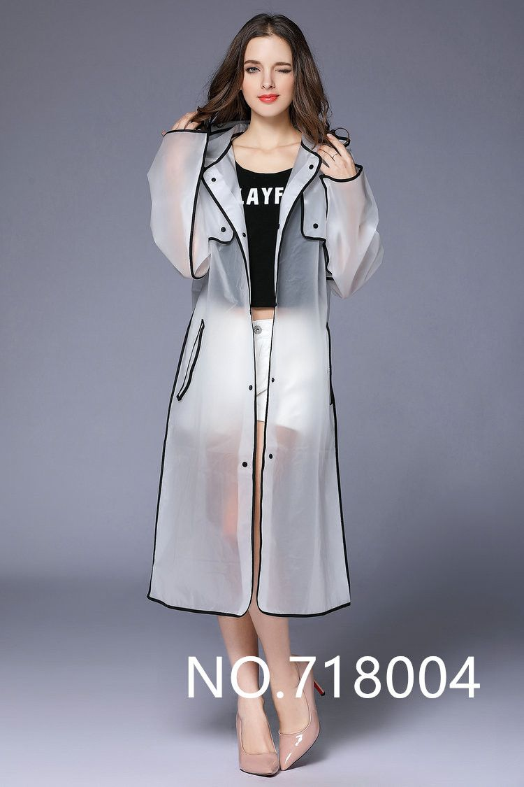 d4a424c2a17 EVA Fashion Transparent Raincoat poncho Women Men waterproof Long Rain Coat  Ponchos Jacket Chubasqueros Impermeables Mujer