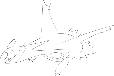 Latios Pokemon Coloring Page Latios Pokemon Cinder And Foam